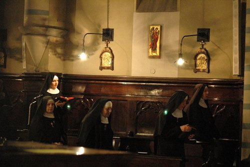 Nel coro monastico