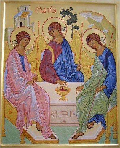 Icona della trinità scritta da una monaca